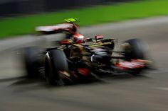 Pastor Maldonado (VEN) Lotus E22. Formula One World Championship, Rd14, Singapore Grand Prix, Marina Bay Street Circuit, Singapore, Practice, Friday, 19 September 2014
