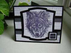 Wolf B-day by Hockey mom #7 - Cards and Paper Crafts at Splitcoaststampers