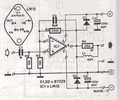 80W Audio Amplifier circuit with LM12