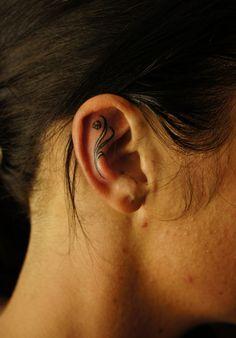 20 Cute Ear Tattoo Designs Examples | TutorialChip