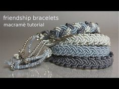 Macramè Friendship Bracelets - YouTube                                                                                                                                                      Más