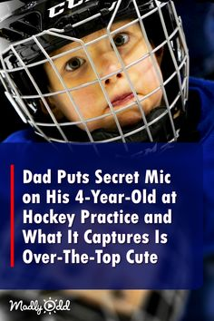 Dad Puts Mic on His at Hockey Practice and What It Captures Is Over-The-Top Cute You Funny, Funny People, Funny Kids, Hilarious, Funny Things, Athletic Scholarships, Funny Cats And Dogs, 4 Year Olds, Just For Laughs