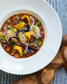 In the Barn, Ryan's scallop bouillabaisse is as beautiful as it is delicious. photo drew kelly