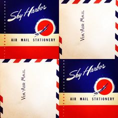 Some vintage Air Mail & letterhead from the 1960s & used in 'The Astronot' film.