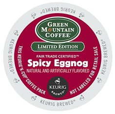 Green Mountain Coffee Spicy Eggnog K-Cups (96 Count) -- Check this useful article by going to the link at the image. #CoffeeMachine