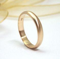 Gold Wedding Ring Mens single band 14k Yellow by studiometalsmith, $395.00