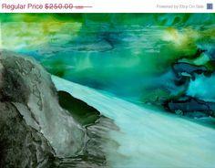 On Sale Tahoe Lake Fine Art on Canvas Framed Black by SchadStudio, $200.00