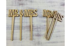 Mr & Mrs beszúrós 2szett/csomag - Esküvői kiegészítők - kosarbolt