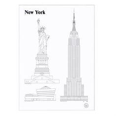 Landmarks poster 50 x 70 cm. - New York - Studio Esinam