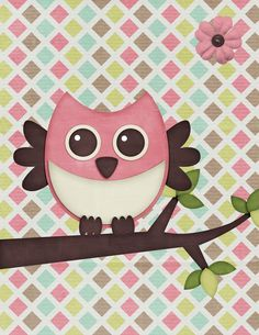 I know many of you decorate your daughters rooms with owls so I thought I would share the printables I made with you.  Right click and save...