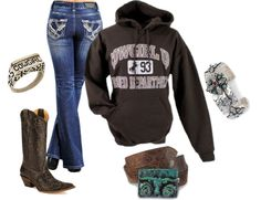 """cowgirl up"" by country-girls-world ❤ liked on Polyvore"