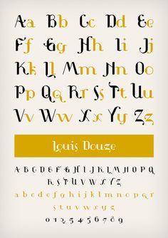 Louis Douze typeface designed by www.novotypo.nl