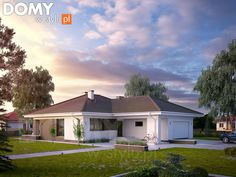 Projekt domu Kiwi 4 on Behance Home Building Design, Building A House, House Design, Modern Bungalow House, New House Plans, Home Deco, Future House, Home Projects, Interior And Exterior