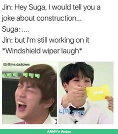 Jin's Dad Jokes ~Credit to owner