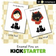 This amazing artist could use some help with her kickstarter. If you like what you so go check @instaplague out!! MORE INFO: Now on kickstarter! If you're interested please back it as this is the only way I'll be able to get them made! link in my profile too http://ift.tt/2aFrLNL #pingame #pin #enamelpin #pinbadge #badge #illustration #badge #pingamestrong #flair #pinsofinstagram #lapelpin #pins #fairytale #fairytales #wolf #pindemic