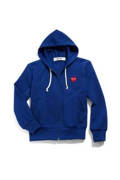 Comme des Garcons Play Zip-Up Cotton Hoodie