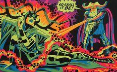 Hel & Odin - Black Light Poster Art by Jack Kirby Jack Kirby, Best Comic Books, Comic Books Art, Comic Art, Book Art, Marvel Hela, Marvel Comics, Odin Comics, Thor Marvel