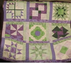 """Sherry Barnes made this quilt for a 4 year old girl who is """"totally attached to her blankies""""! Make your own """"Totally Scrappy"""" quilt like this one using the @AccuQuilt GO! Qube 9"""" or 12"""" Block!"""
