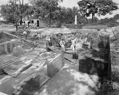 Pictures: Secrets of Colonial Williamsburg's Governor's Palace unearthed in milestone 1930 dig. Story to come. http://bit.ly/1NzF5Nr -- Mark St. John Erickson