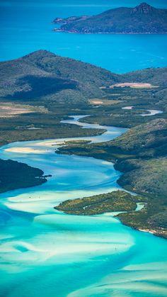 #Whitsundays Aerial flight, #Australia #GreatBarrierReef