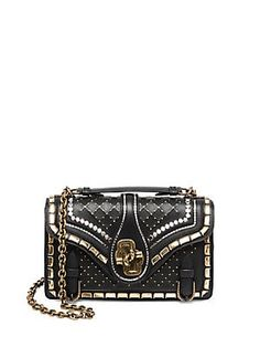 544bf941e6e BOTTEGA VENETA   City Knot Studded Shoulder Bag - Black Steel    CAD 7,060.00,