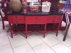 Holiday Red Sideboard