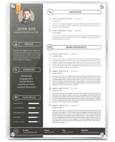 Simple Resume 3 by khaledzz9 on DeviantArt