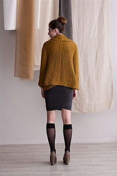 Ravelry: Mirrored-Cable Swing Coat pattern by Amy Gunderson - ravelry pay pattern