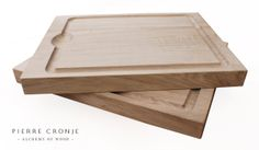 These Pierre Cronje French Oak chopping / carving boards were just completed for a client.  They have a groove for excess juices and grooves on either side for easy lifting.