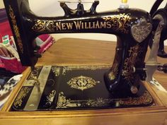 """""""New Williams"""" Vintage from late 1800's  I have a similar sewing machine in my house!  It is beautiful!"""