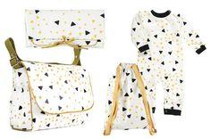 Black honey sparks pattern - London babybag - Berlin changing pad - Florencia backpack - Nashville Overall - Nobodinoz