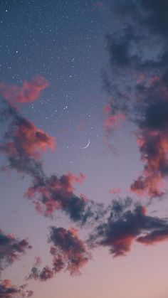 Beautiful night sky iphone wallpaper , iphone background ,phone wallpaper , evening sky, evening sky with crescent moon and stars Wallpaper Pastel, Night Sky Wallpaper, Cloud Wallpaper, Iphone Background Wallpaper, Aesthetic Pastel Wallpaper, Aesthetic Wallpapers, Walpaper Iphone, Aztec Wallpaper, Trendy Wallpaper