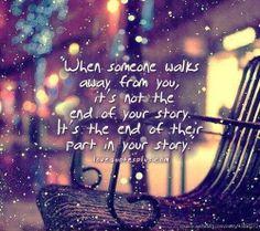When someone walks away ...