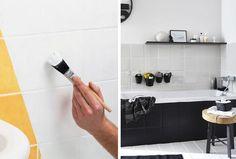 dipingere le pistrelle bagno con lo smalto