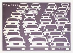 Krzysztof Winnicki: TRAFFIC – vehicles moving on a road or public high. Public, Vehicles, Movies, Movie Posters, Art, Art Background, Films, Film Poster, Kunst
