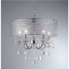 @Overstock.com - Crystal Pendant Lamp - Update your home or office with this attractive lighting fixture. This pendant features a gorgeous chrome finish for a timeless look.  http://www.overstock.com/Home-Garden/Crystal-Pendant-Lamp/6739551/product.html?CID=214117 $131.99