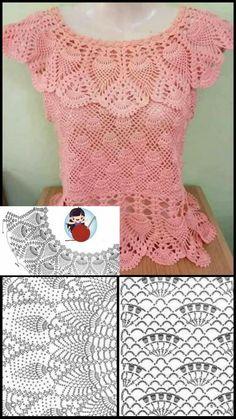 Toque, Crochet Top, Women, Fashion, Crochet Blouse, Recipes, Outfits, Amigurumi, Moda