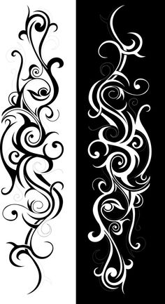 Tribal Art Swirl Vector Free Vector Leaves Template Free Printable, Free Printable Coloring Pages, Body Art Tattoos, Sleeve Tattoos, Bee Stencil, Side Tattoos Women, Arabesque, Flower Tattoo Foot, Wall Painting Decor