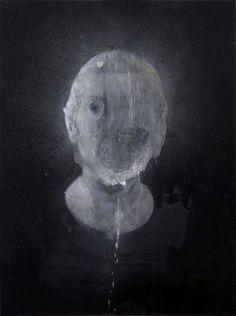 Seer by Nicola Samori 2011, oil on wood, cm 40x 30