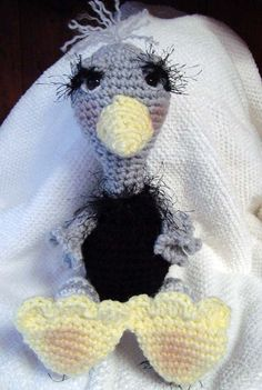 Perfect gift for the bird lover. Amigurumi Ostrich OOAK Hand Crocheted by jennymillerartistry, $39.99