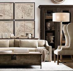 635 best restoration hardware images in 2019 living room railway rh pinterest com