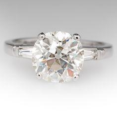 Stunning+Old+Mine+Cut+Heirloom+Diamond+Engagement+Ring
