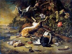 Jan Baptist Weenix | Dead Game and Small Birds, c.1700 | Jan Weenix | Painting Reproduction