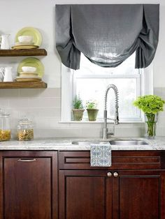 (paid link) For instance, in feat you wantdark woodwoodkitchen cabinets, try an ivory ceiling, adark woodershade of tan or cream for the wall space, and bursts of... Decorating Above Kitchen Cabinets, Dark Kitchen Cabinets, Kitchen Cabinet Doors, Grey Cabinets, Kitchen Decor, Kitchen Design, Kitchen Tips, Kitchen Wood, Kitchen Ideas