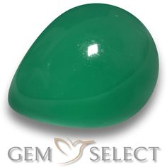 GemSelect features this natural Agate from India. This Green Agate weighs 2.7ct and measures 9.7 x 8mm in size. More Pear Cabochon Agate is available on gemselect.com #birthstones #healing #jewelrystone #loosegemstones #buygems #gemstonelover #naturalgemstone #coloredgemstones #gemstones #gem #gems #gemselect #sale #shopping #gemshopping #naturalagate #agate #greenagate #peargem #peargems #greengem #green Green Gemstones, Loose Gemstones, Natural Gemstones, Buy Gems, Gem Shop, Green Agate, Gemstone Colors, Shades Of Green, Stone Jewelry