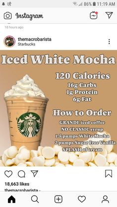 Low Calorie Starbucks Drinks, Healthy Starbucks Drinks, Starbucks Secret Menu Drinks, Low Calorie Drinks, Starbucks Coffee, Healthy Drinks, Healthy Eats, Fun Drinks, Yummy Drinks