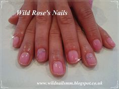Wild Rose's Nails: Shellac Pink & Liquid Stones