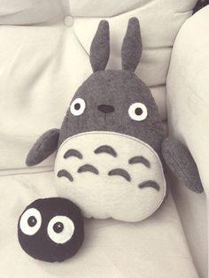 Handmade My Neighbor Totoro Totoro and Soot by TakeThisToYourHeart. I want him SO BAD!!! :)