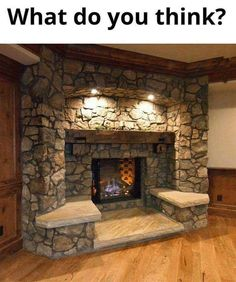 Frame your living room fireplace with built-in seating. : Frame your living room fireplace with built-in seating. Fireplace Seating, Fireplace Built Ins, Home Fireplace, Living Room With Fireplace, Fireplace Design, Fireplace Ideas, Simple Fireplace, Fireplace Frame, Fireplace Hearth
