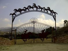 The ranch gates to Sawyer's house Farm Gate, Fence Gate, Fences, Horse Fencing, Front Gates, Entrance Gates, Garden Gates, Garden Art, Driveway Entrance
